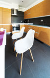Interior design: Modern big kitchen Royalty Free Stock Photo