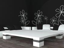 Interior design of modern black living room Royalty Free Stock Image