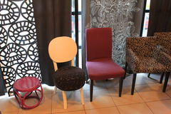 Interior design modern chairs Stock Image