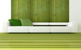 Interior design of modern green living room Stock Photo