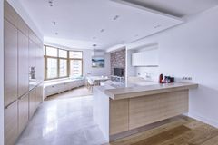 Interior of a modern house. Royalty Free Stock Images
