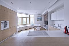 Interior of a modern house. Royalty Free Stock Photo
