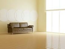Interior design of modern light living room. Stock Photo