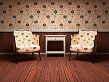 Interior design of modern living room Stock Photos