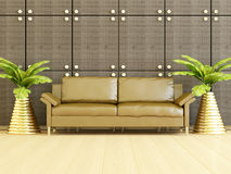 Interior design of modern living room. Stock Photography