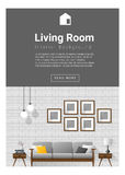 Interior design Modern living room banner Royalty Free Stock Photo