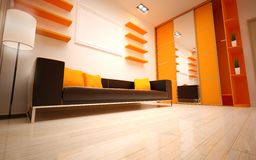 Interior Design. Modern living room Royalty Free Stock Image