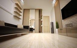 Interior Design. Modern living room Royalty Free Stock Photo