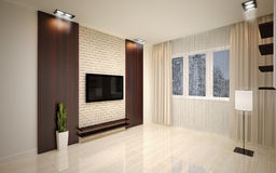 Interior Design. Modern living room Stock Photos