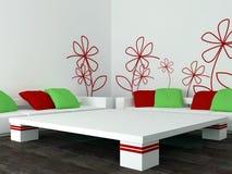 Interior design of modern living room, lounge Stock Photos