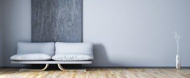 Interior design of modern living room with sofa 3d rendering vector illustration