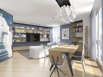 Interior design in modern style Royalty Free Stock Photos