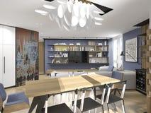 Interior design in modern style Stock Image