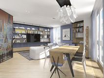 Interior design in modern style Royalty Free Stock Photo