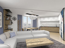 Interior design in modern style Stock Images