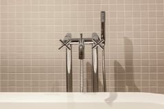 Interior And Objects In The Bathroom Stock Photo - Image of faucet