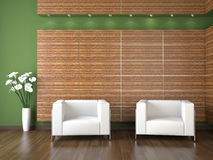 Interior design of modern waiting room Stock Photography