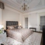Interior design moderno classico di lusso della camera da letto Illustrazione di Stock