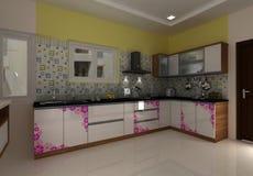 interior design moderno del bagno 3D Fotografia Stock Libera da Diritti