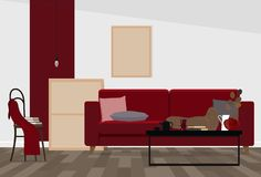 Interior design moderno di un salone o di uno spazio ufficio in uno stile industriale fotografie stock libere da diritti