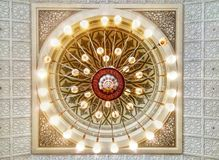 Mosque interior design royalty free stock photography