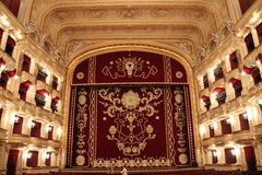 Scene of the Odessa Opera House stock photography