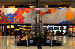 Interior design of Narita airport. The picture shows the graphic of interior design of the departure terminal of Narita airport. The colourful artistic Royalty Free Stock Photos