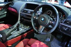 Interior design of NEW BMW 640I coupe M sport Stock Images