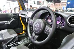 Interior design of New Jeep Wrangler Sahara Stock Image