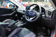 Interior design of New Mazda 3 Stock Photo