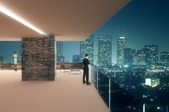 Interior design at night Royalty Free Stock Photography