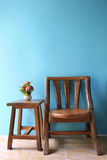 Interior Design Of Wood Chair. Royalty Free Stock Photo