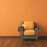 Interior design orange wall royalty free illustration