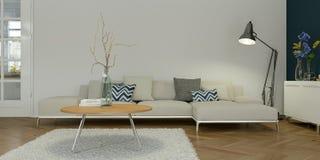 Interior design piano skandinavian luminoso moderno illustrazione di stock