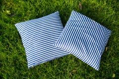 Interior design with pillows on sofa Stock Photo