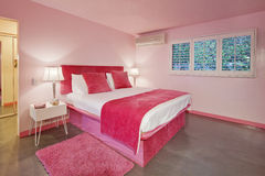 Interior design of pink bedroom Royalty Free Stock Photography
