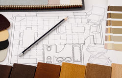 Interior design planning Stock Images