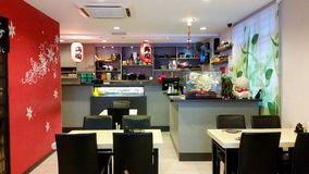 Interior Design Restaurant Stock Photography