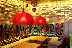 Interior design of restaurant Royalty Free Stock Photography