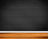 Interior Design - Retro Wallpaper. With wooden baseboard Royalty Free Stock Image
