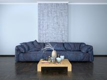 Interior design of the room with a sofa Royalty Free Stock Photo