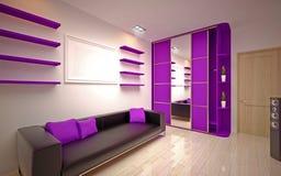 Interior design. Salone moderno Immagine Stock Libera da Diritti