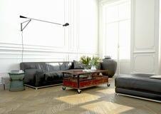 Interior design, salone rappresentazione 3d Fotografia Stock