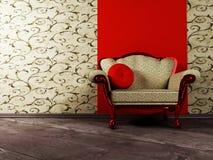 Interior design scene with an  armchair Stock Photo