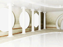 Interior design scene with columns Royalty Free Stock Images
