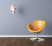 Interior Design Scene In Blue Stock Photo