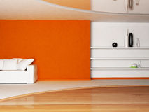 Interior design scene of living room Royalty Free Stock Image