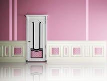 Interior design scene with a nice classic door Stock Image