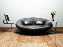 Interior design scene with a  nice creative sofa Royalty Free Stock Photo