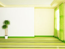 Interior design scene with the plant Royalty Free Stock Images